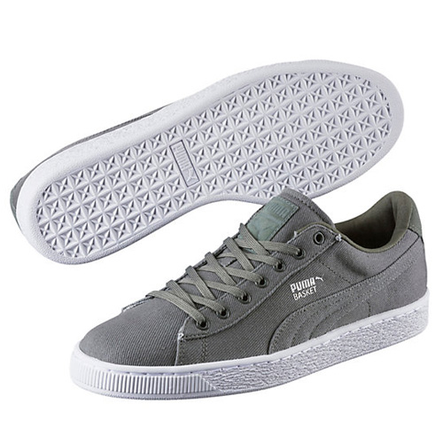 Puma Agave Green Basket Classic Canvas Men's Sneakers